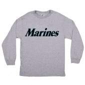 MARINES L/S T-SHIRT GREY