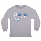 US AIR FORCE L\S T-SHIRT - GREY