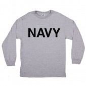 NAVY L/S T-SHIRT GREY