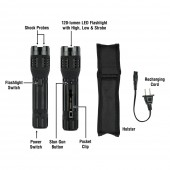 SABRE Maximum Strength Stun Gun with LED Flashlight (Industry's Highest Pain-Inducing Model)