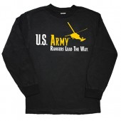 US ARMY L\S T-SHIRT - BLACK